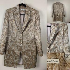 Amanda Smith Jacket Long Brocade Blazer